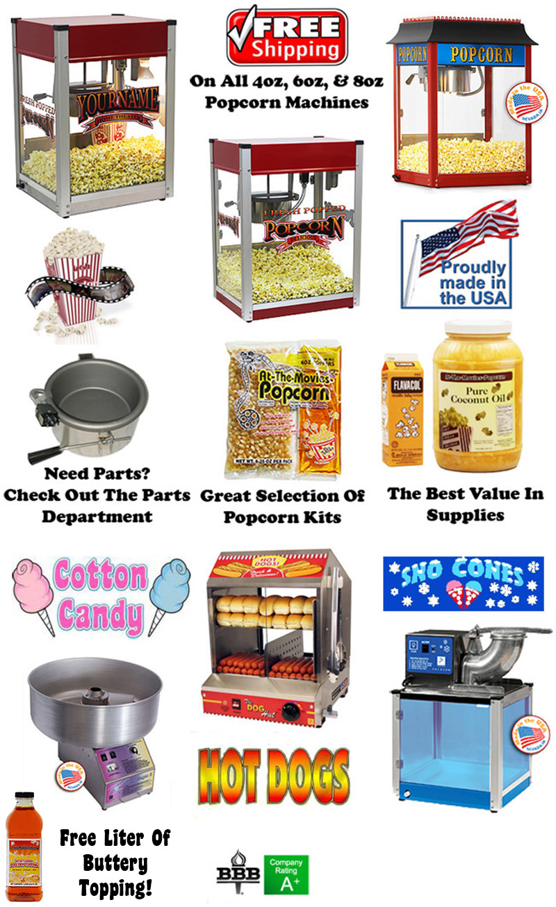 Paragon Popcorn Machines